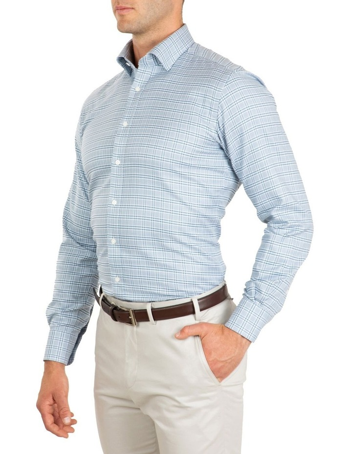 Tailored Fit Teal Giorgio Check Shirt image 3