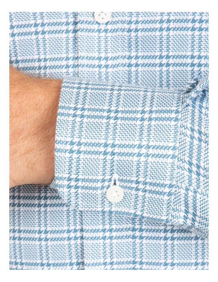 Tailored Fit Teal Giorgio Check Shirt image 4