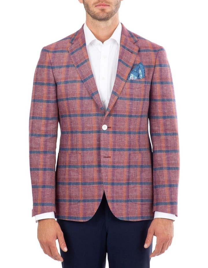 Tailored Fit Daniele Pink Check Jacket FDM450 image 1
