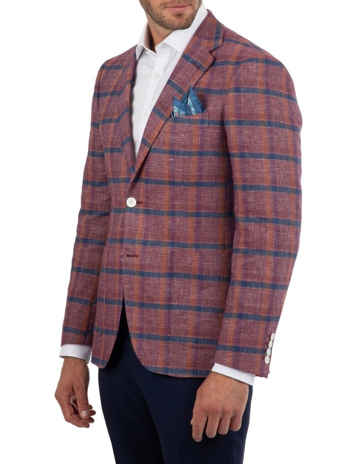 Tailored Fit Daniele Pink Check Jacket FDM450 image 2