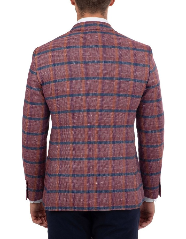 Tailored Fit Daniele Pink Check Jacket FDM450 image 3
