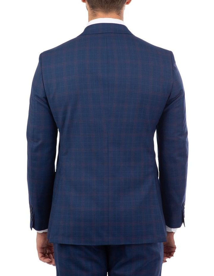 Tailored Fit Stefano Navy Check Jacket image 3