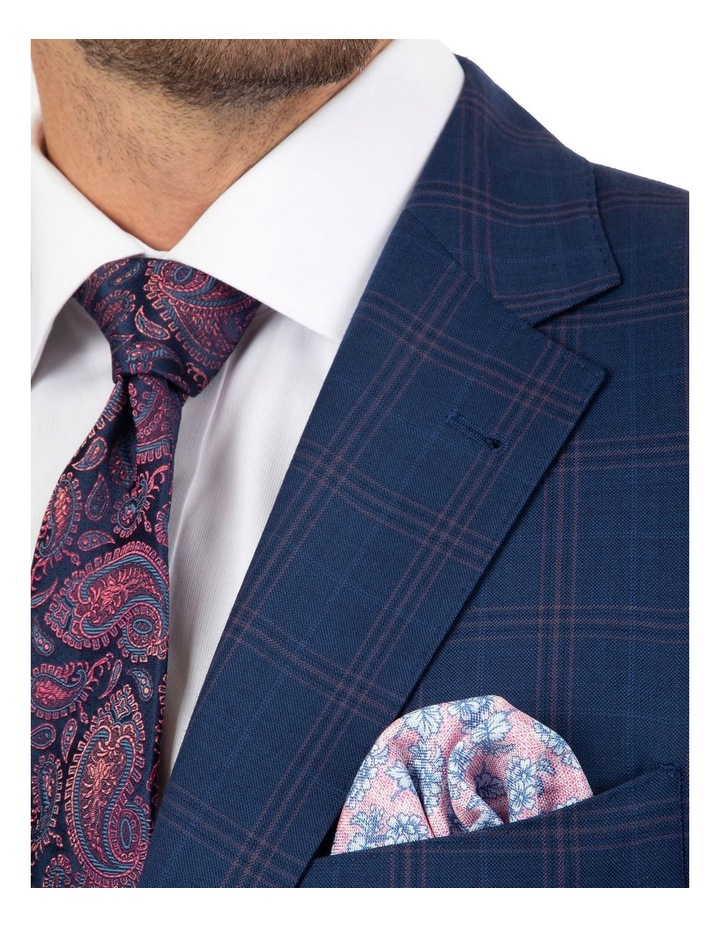Tailored Fit Stefano Navy Check Jacket image 4