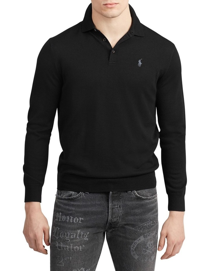 Washable Merino Polo Sweater image 1