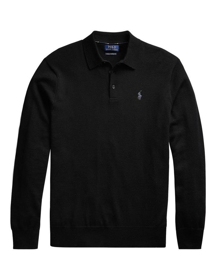 Washable Merino Polo Sweater image 4