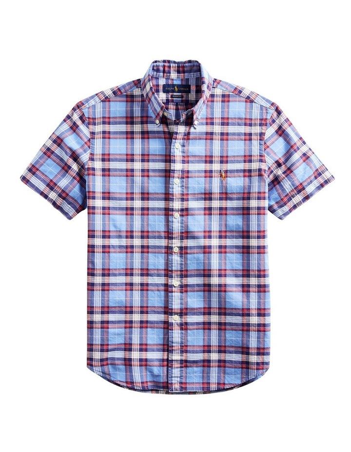Classic Fit Plaid Oxford Shirt image 4