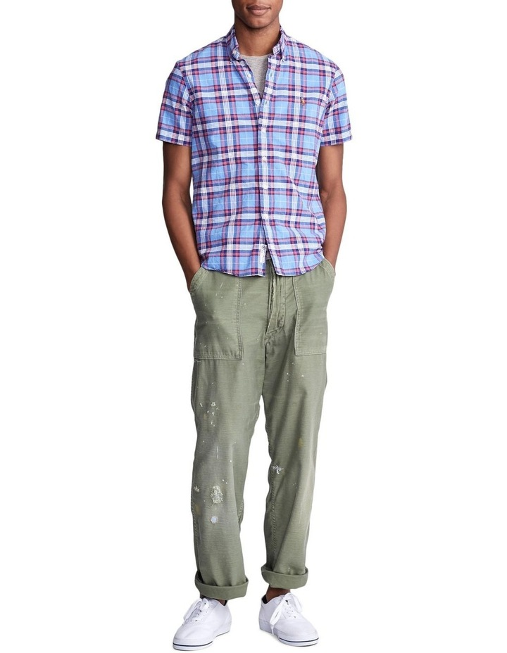 Classic Fit Plaid Oxford Shirt image 3
