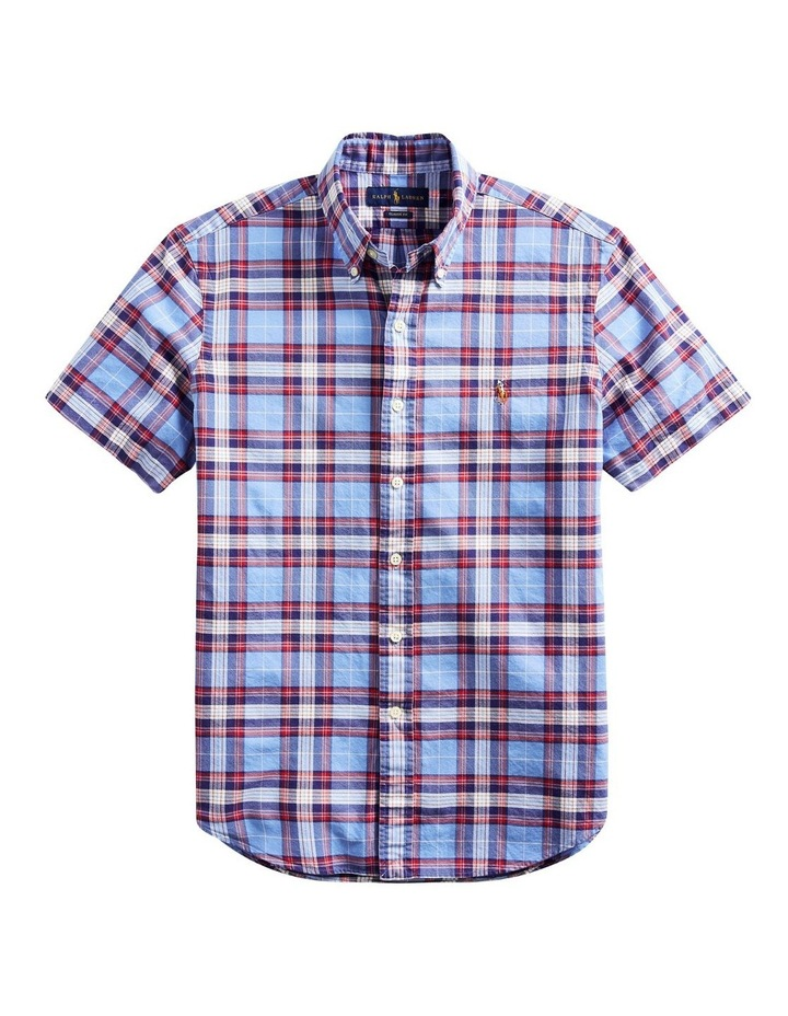 Classic Fit Plaid Oxford Shirt image 4