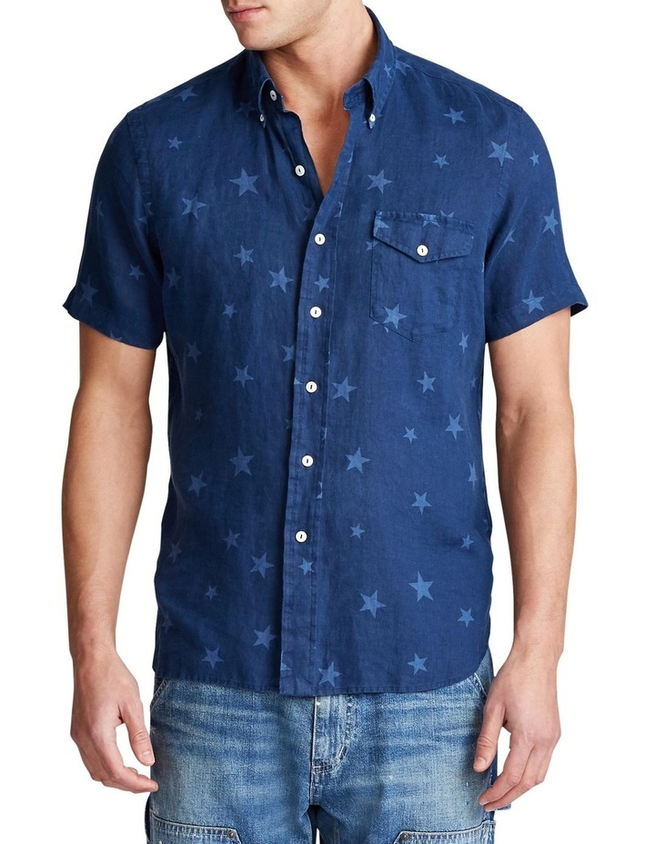 Classic Fit Star Linen Shirt image 1