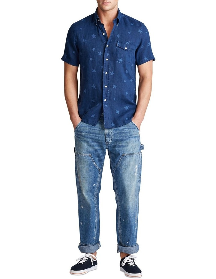 Classic Fit Star Linen Shirt image 3