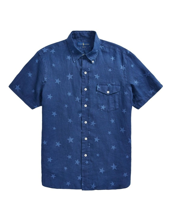 Classic Fit Star Linen Shirt image 4
