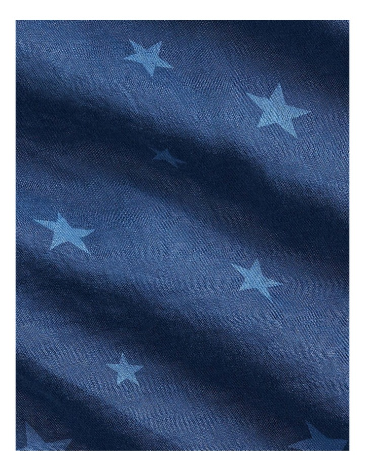 Classic Fit Star Linen Shirt image 5