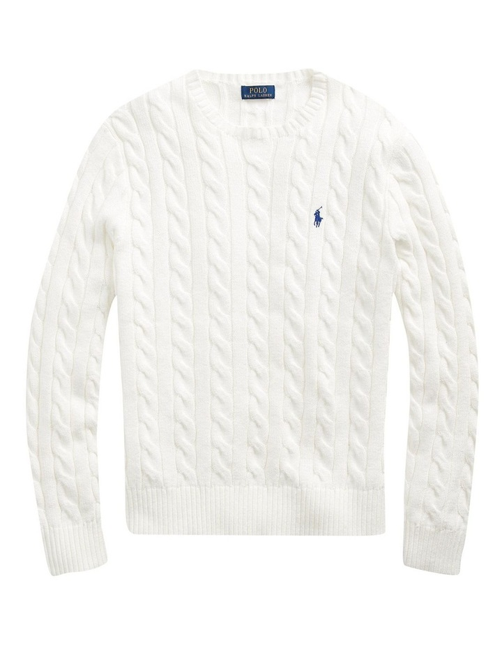 Cable-Knit Cotton Sweater image 4