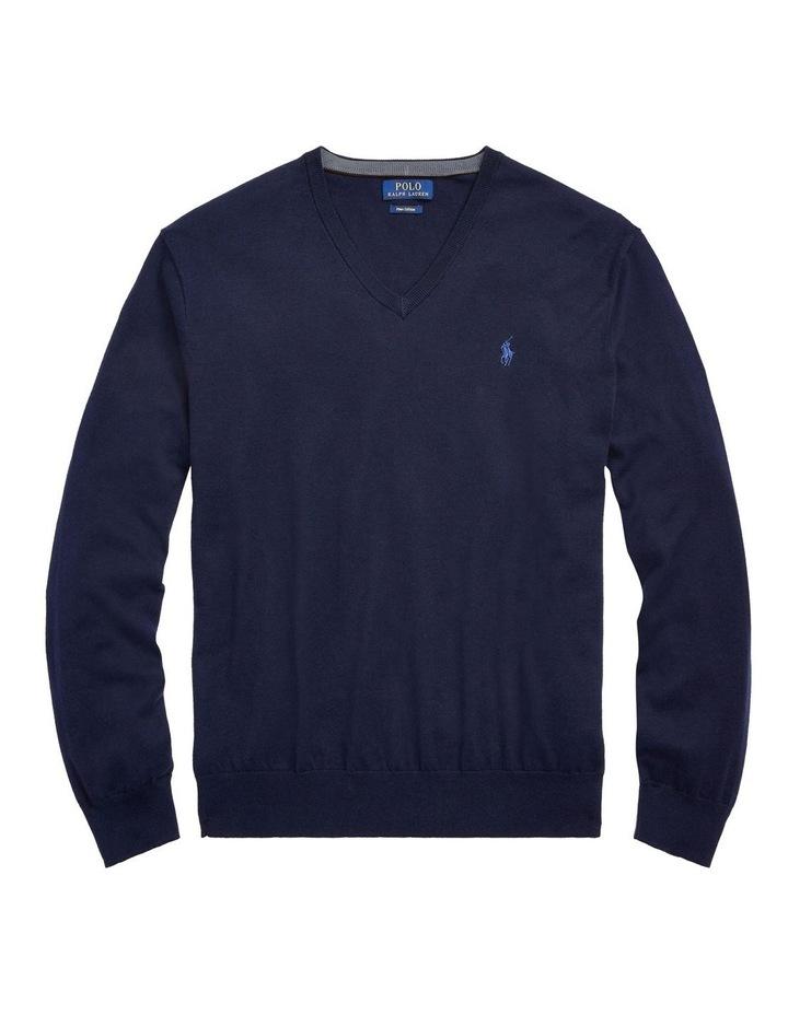 Merino Wool V-Neck Sweater image 4