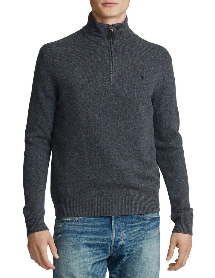 Wool-Blend Quarter-Zip Sweater image 1