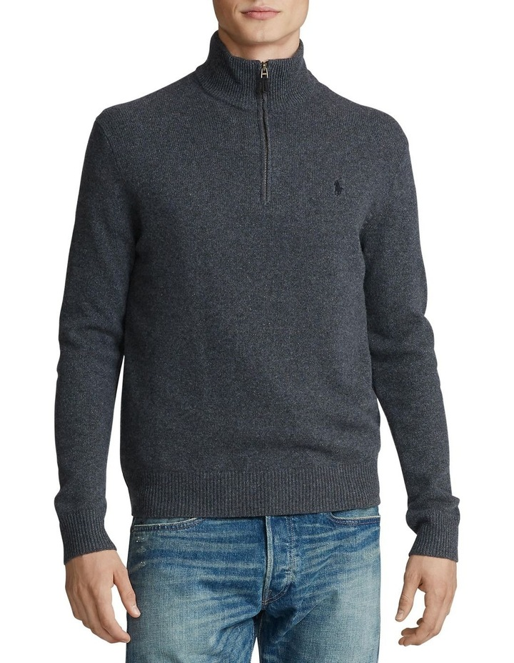 Wool-Blend Quarter-Zip Sweater image 1