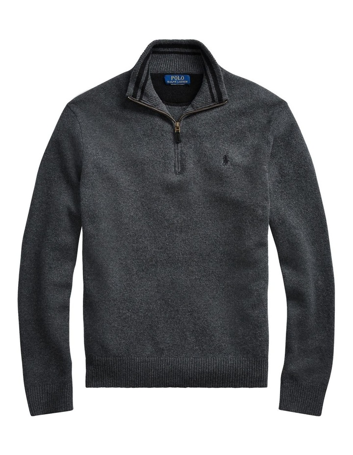 Wool-Blend Quarter-Zip Sweater image 4