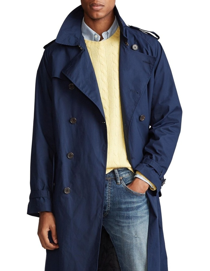 Stretch Cotton Trench Coat image 1
