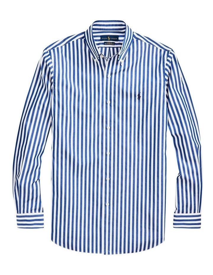 Slim Fit Striped Poplin Shirt image 3