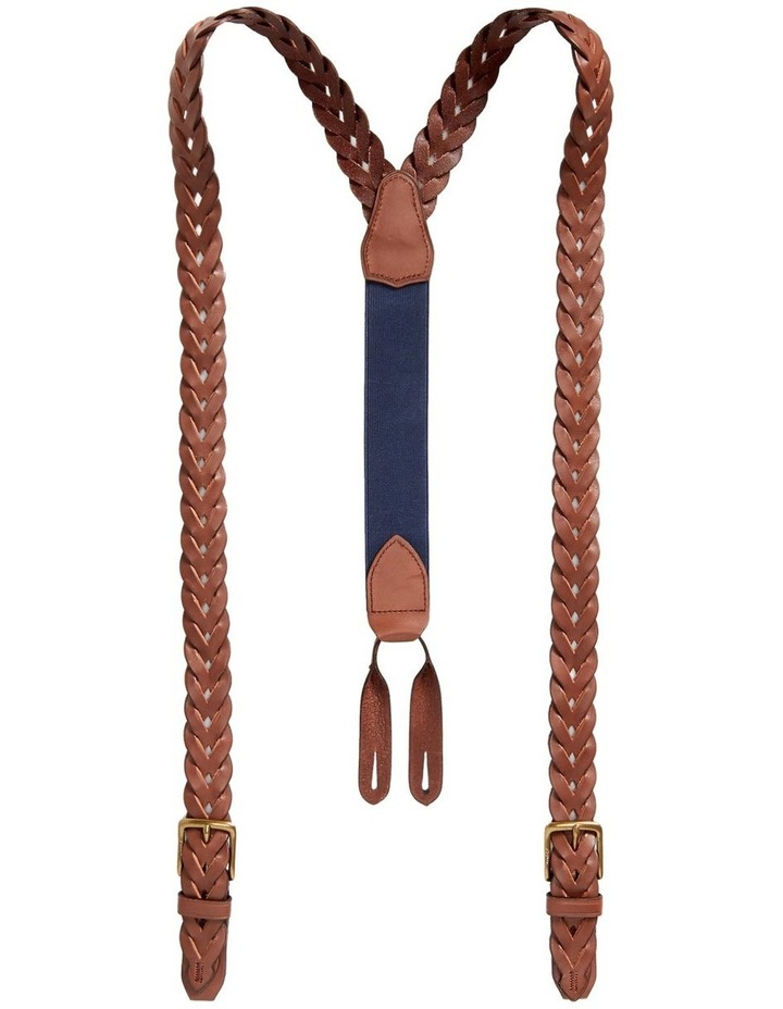 Braided Leather Suspenders image 1
