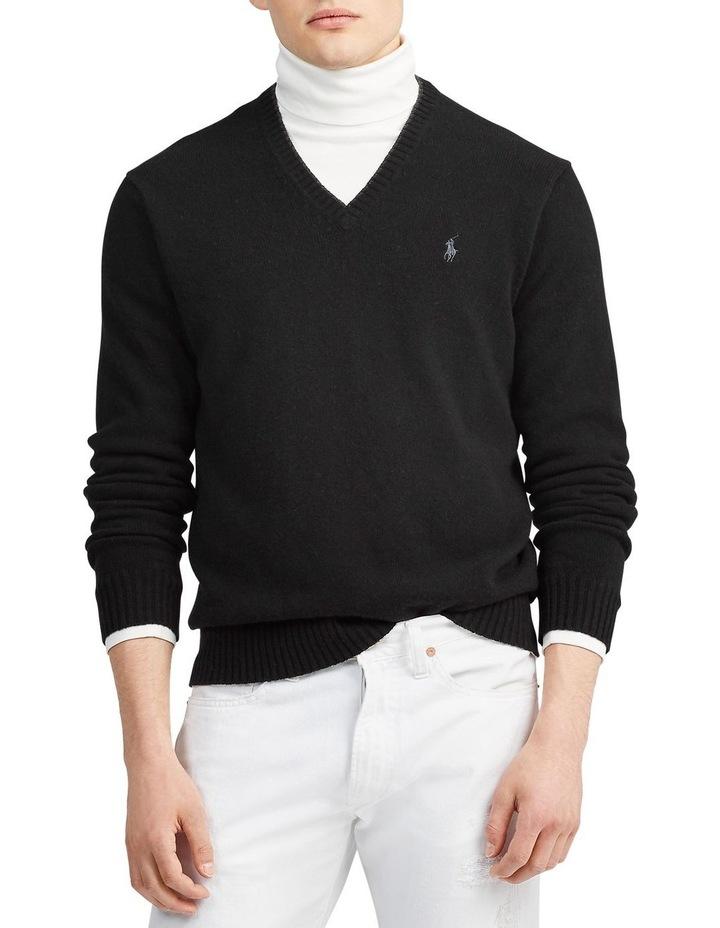 Wool-Cashmere V-Neck Sweater image 1