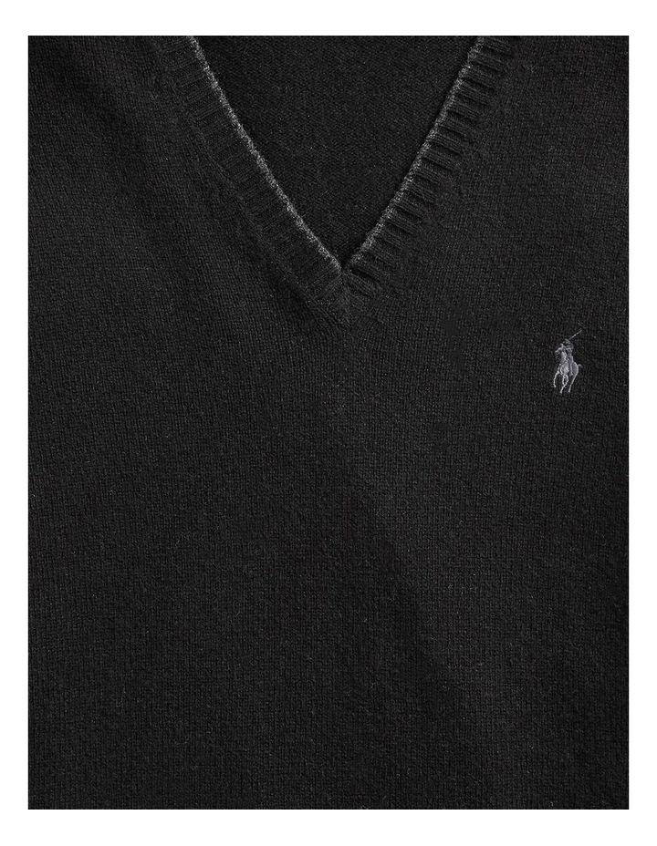 Wool-Cashmere V-Neck Sweater image 5