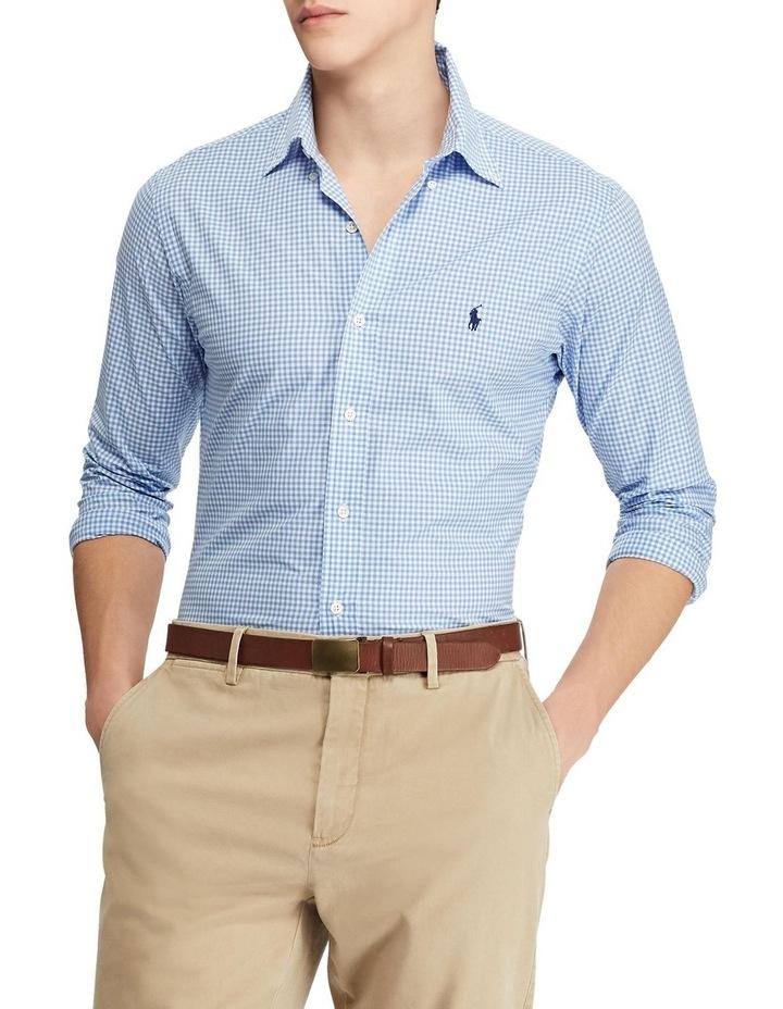 Slim Fit Checked Poplin Shirt image 1