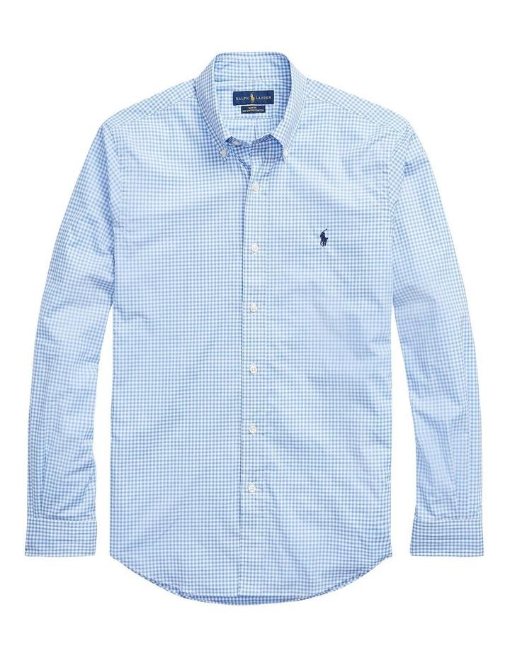 Slim Fit Checked Poplin Shirt image 4