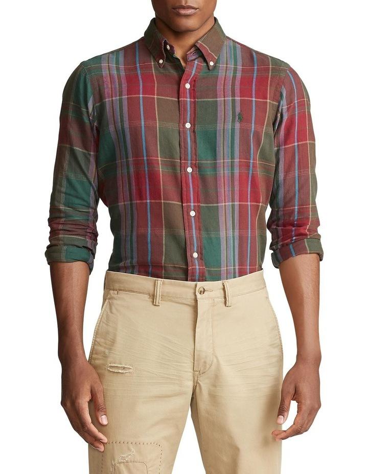 Classic Fit Plaid Twill Shirt image 1