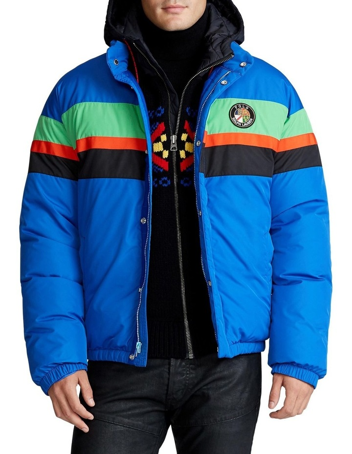Striped Down Jacket image 1