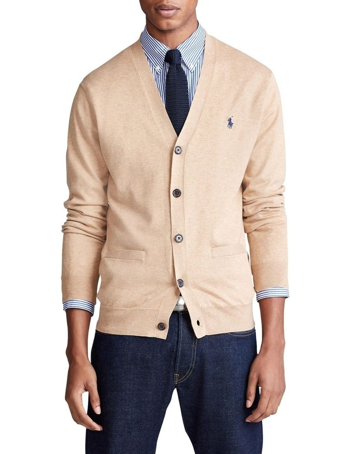 Cotton V-Neck Cardigan image 1