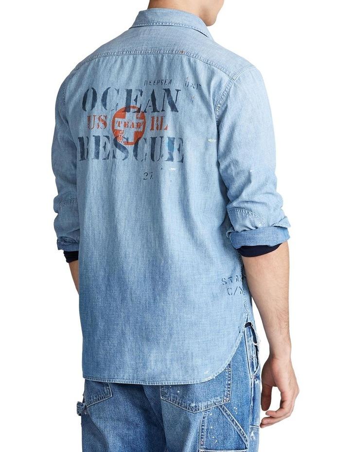 Stenciled Chambray Shirt image 2