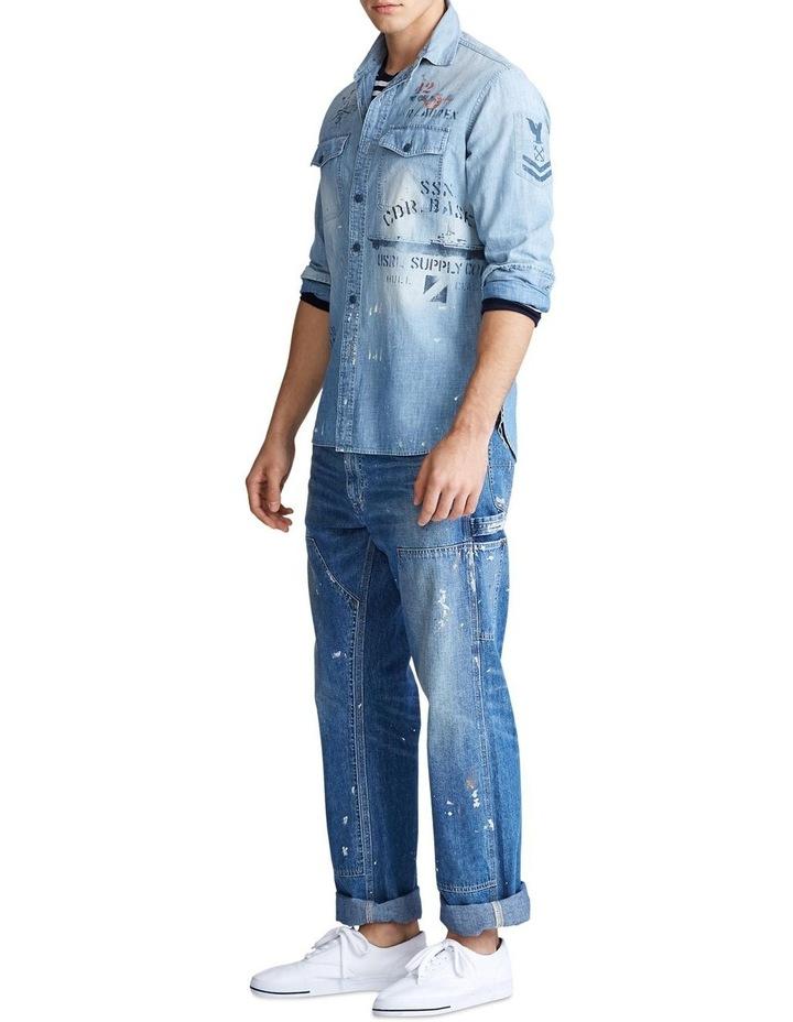 Stenciled Chambray Shirt image 3