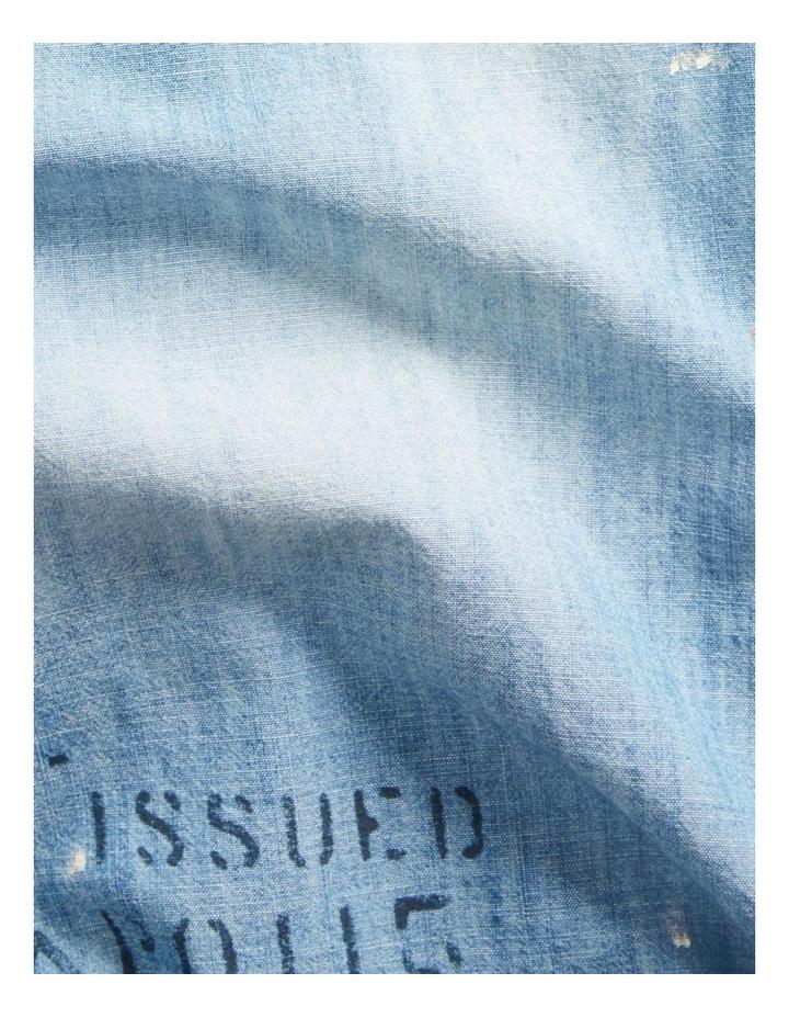 Stenciled Chambray Shirt image 5