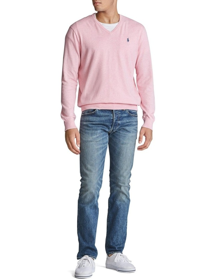 Cotton V-Neck Sweater image 3