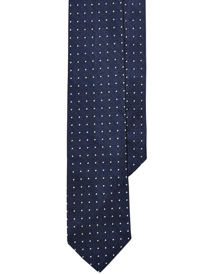 Dot Silk Repp Narrow Tie image 1