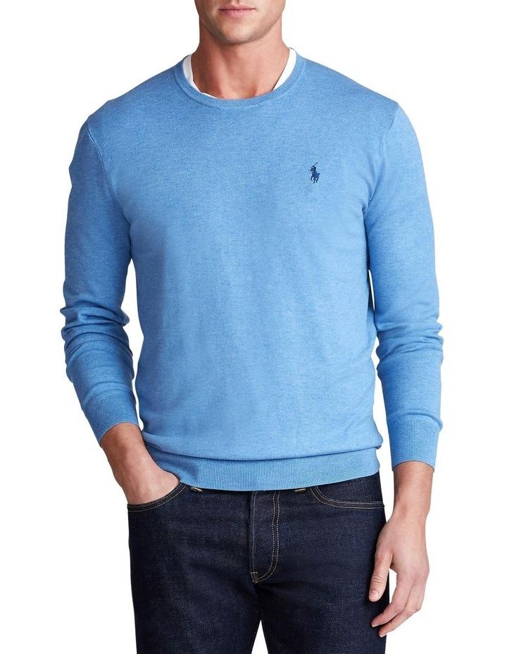 Slim Fit Cotton Crewneck Sweater image 1