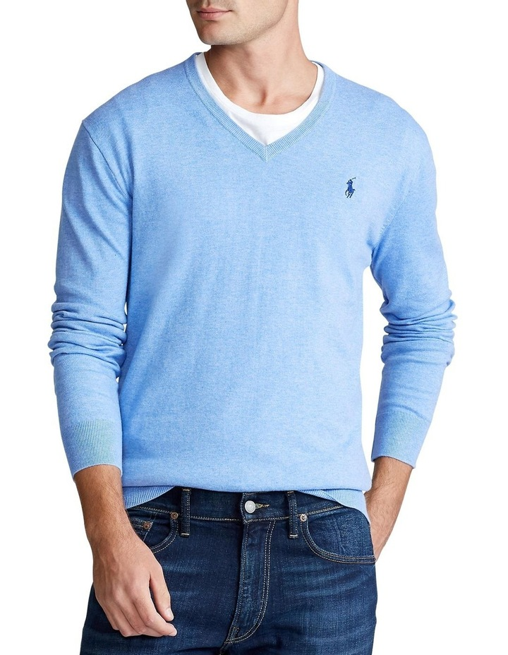 Cotton V-Neck Sweater image 1