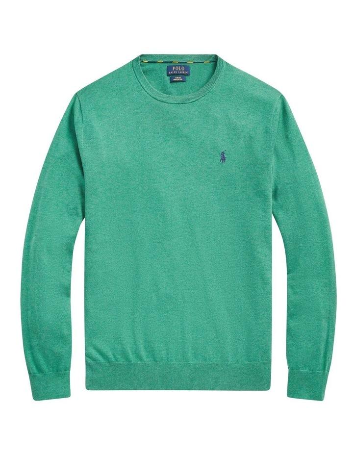 Slim Fit Cotton Crewneck Sweater image 4