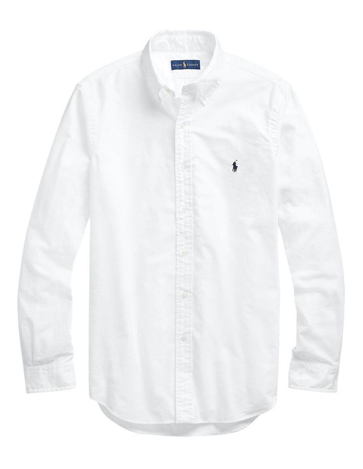 Slim Fit Garment-Dyed Oxford Shirt image 1