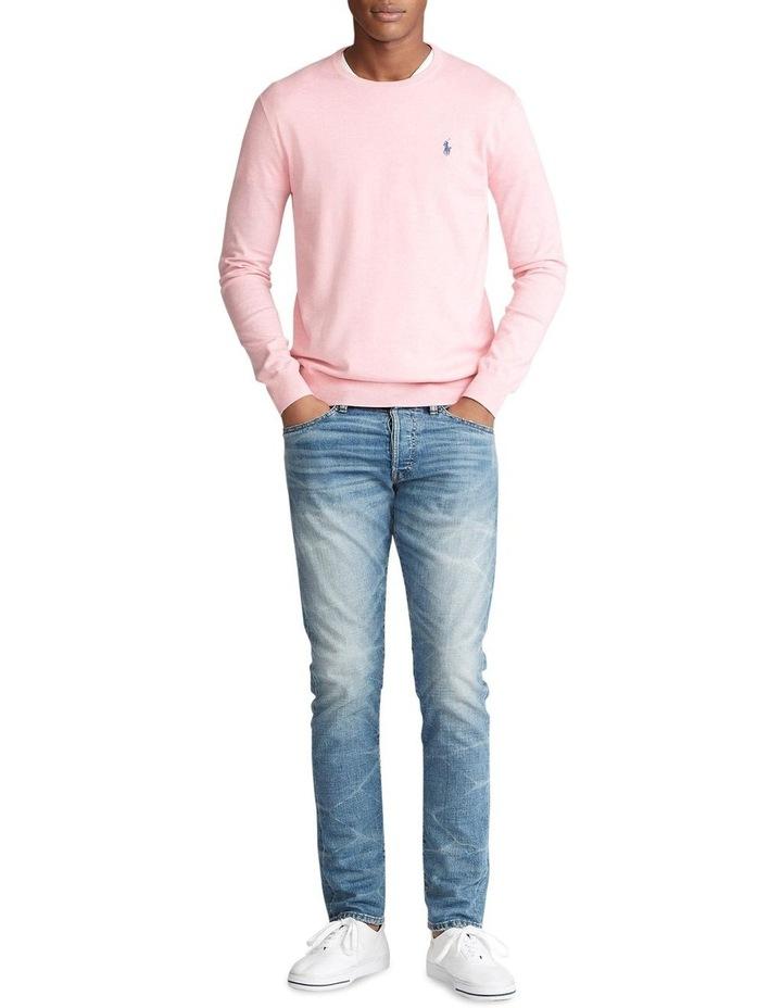 Slim Fit Cotton Crewneck Sweater image 3