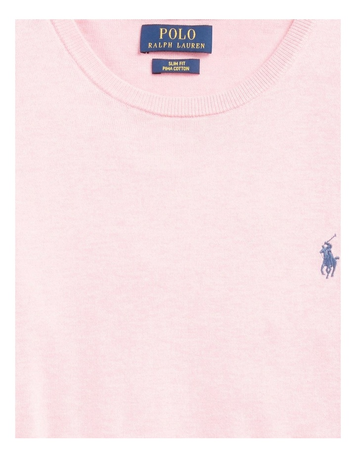 Slim Fit Cotton Crewneck Sweater image 5