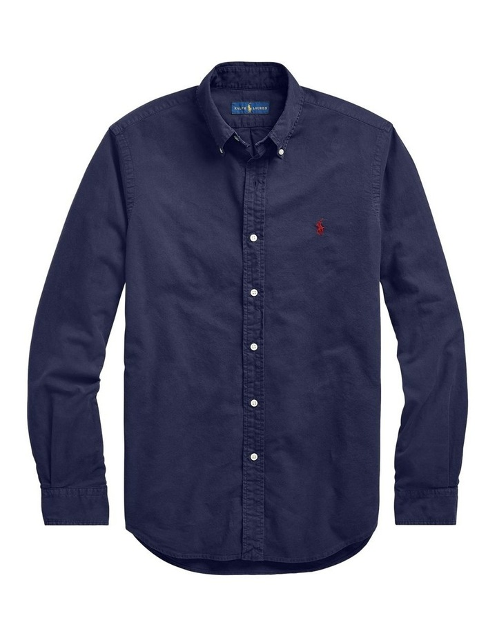 Classic Fit Garment-Dyed Oxford Shirt image 4