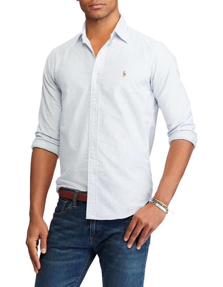 Classic Fit Striped Oxford Shirt image 1