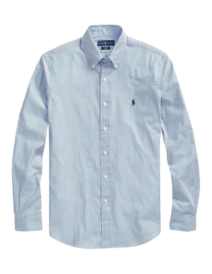 Slim Fit Striped Poplin Shirt image 4