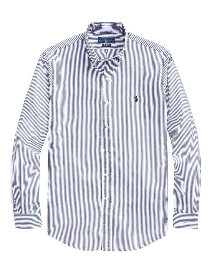 Slim Fit Striped Poplin Shirt image 4