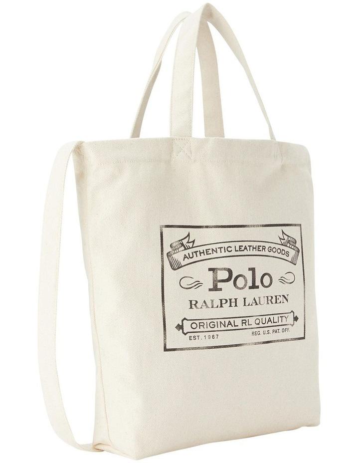 Cotton Logo Graphic Shopper Tote image 1