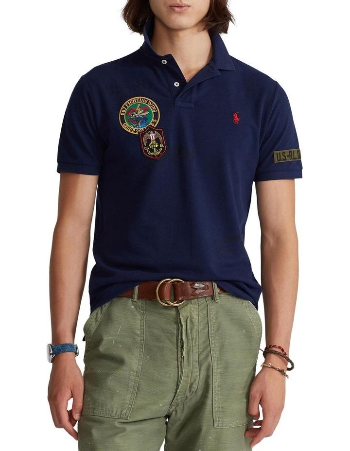 Custom Slim Fit Camo Mesh Polo Shirt image 1