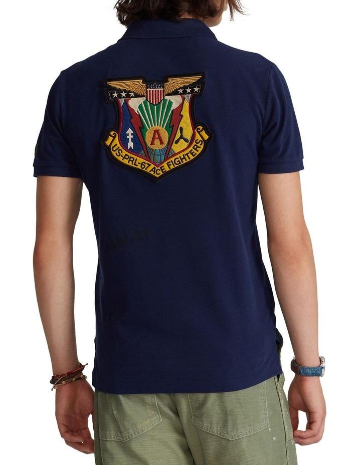 Custom Slim Fit Camo Mesh Polo Shirt image 2