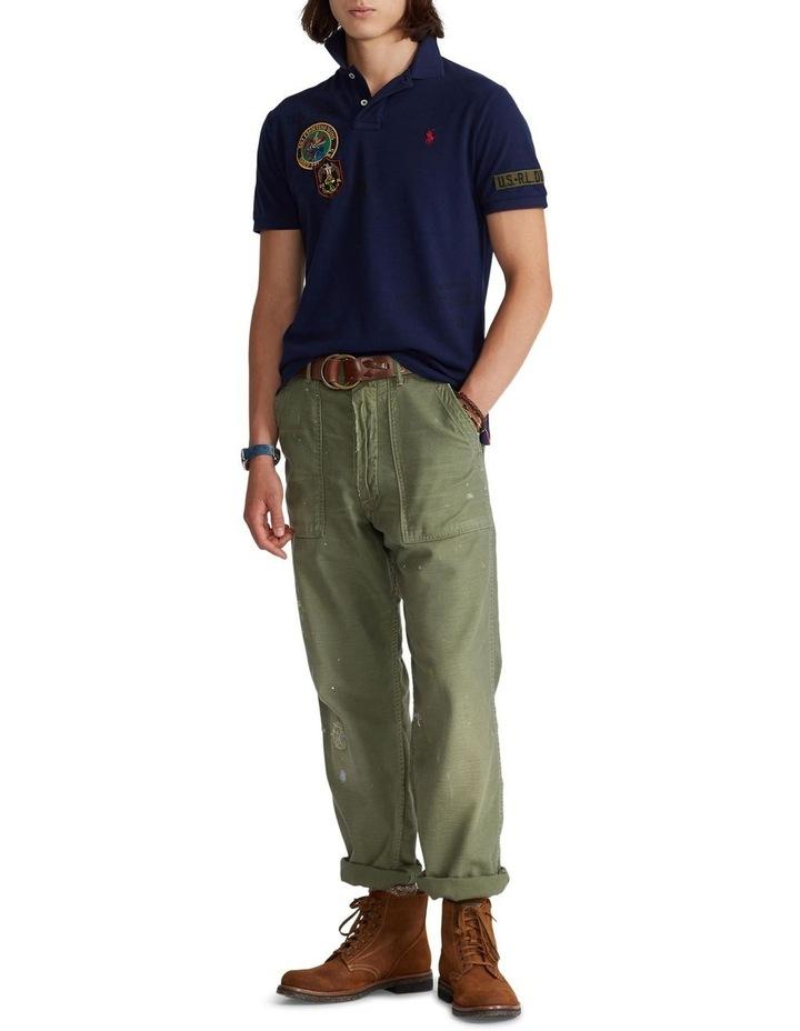 Custom Slim Fit Camo Mesh Polo Shirt image 3